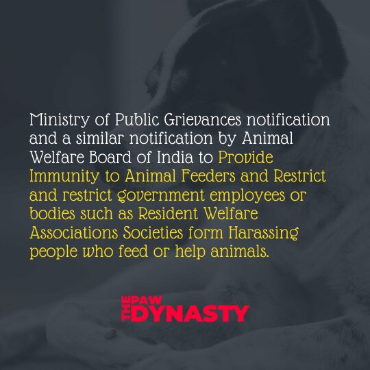 Animal Protection Laws, Ministry of Public Grievances n