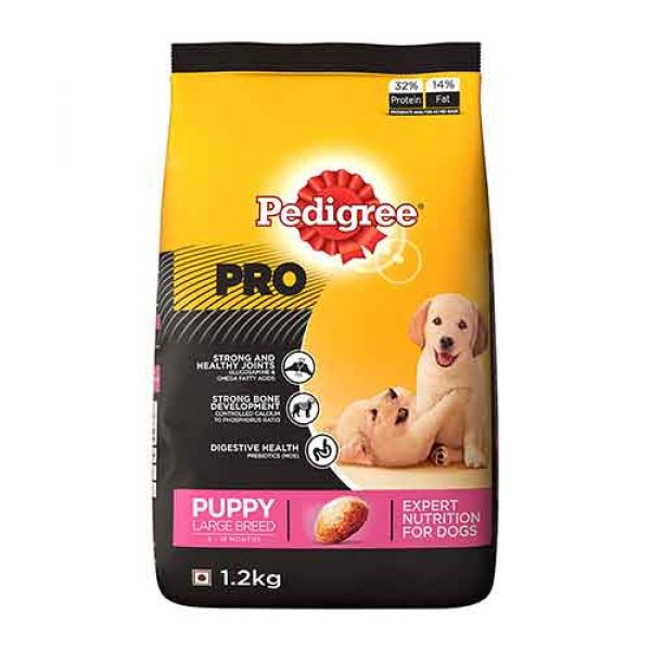 Pedigree PRO Expert Nutrition Large Breed Puppy (3-18 Months) Dry Dog Food 1.2kg Pack