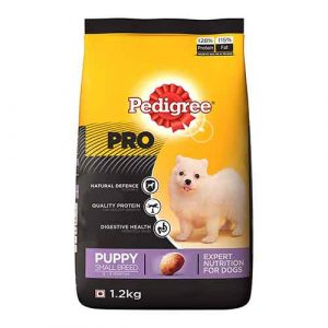pedigree professional for small puppy breeds