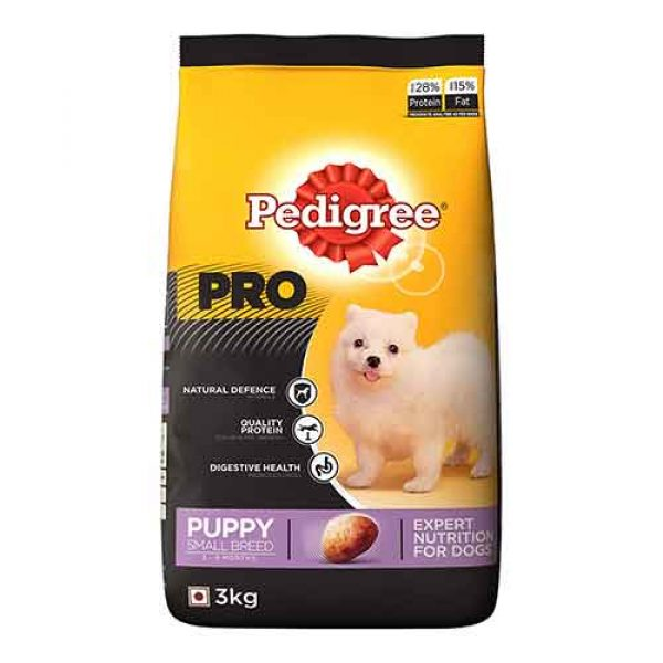 pedigree professional for small puppy breed 3kg