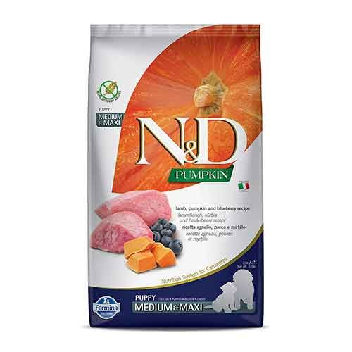 N&D Grain Free Lamb & Blueberry Puppy Dog Dry Food, Medium & Maxi